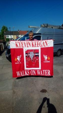 Keegan walks on water